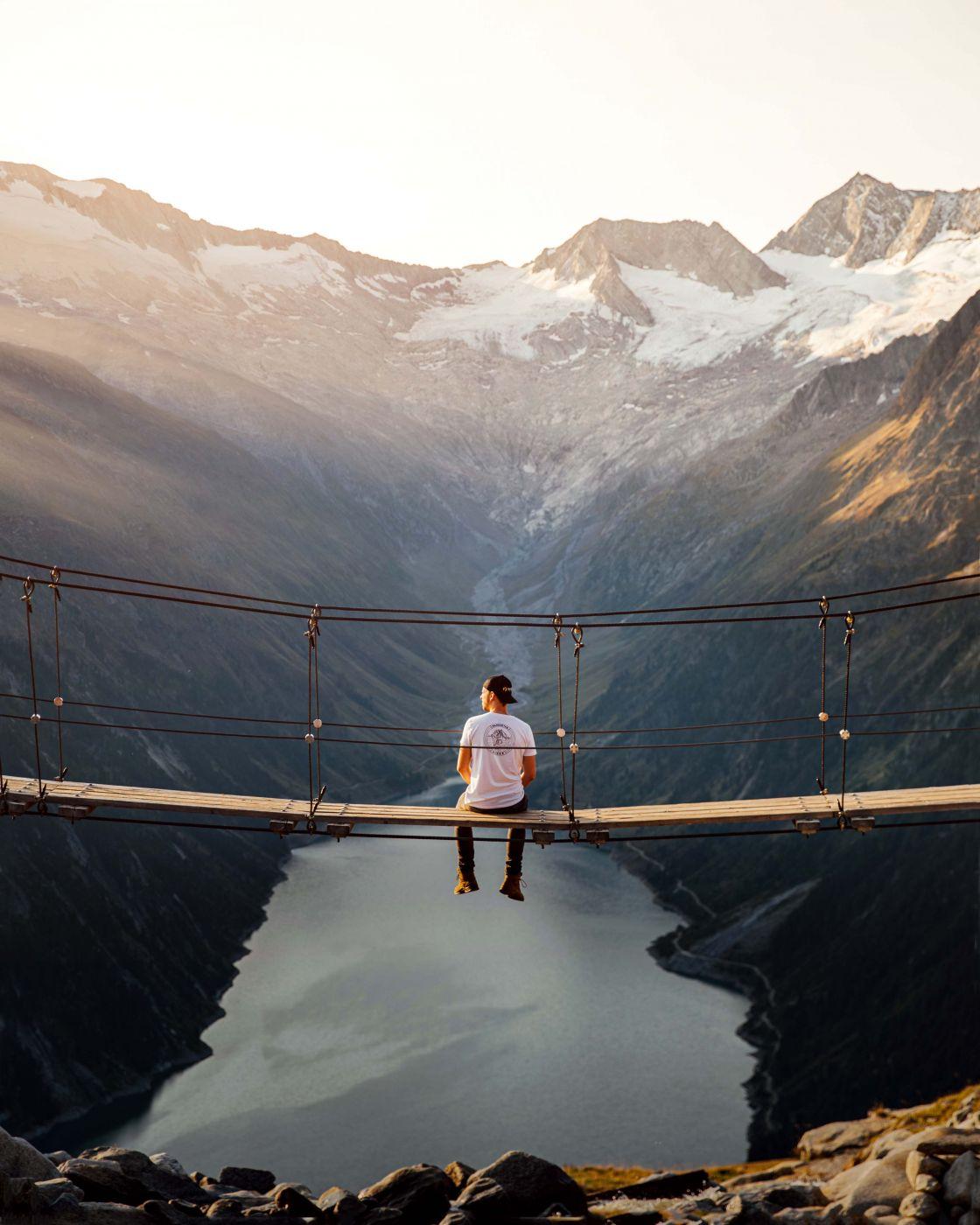 Olpererhütte Panorama Bridge, Austria
