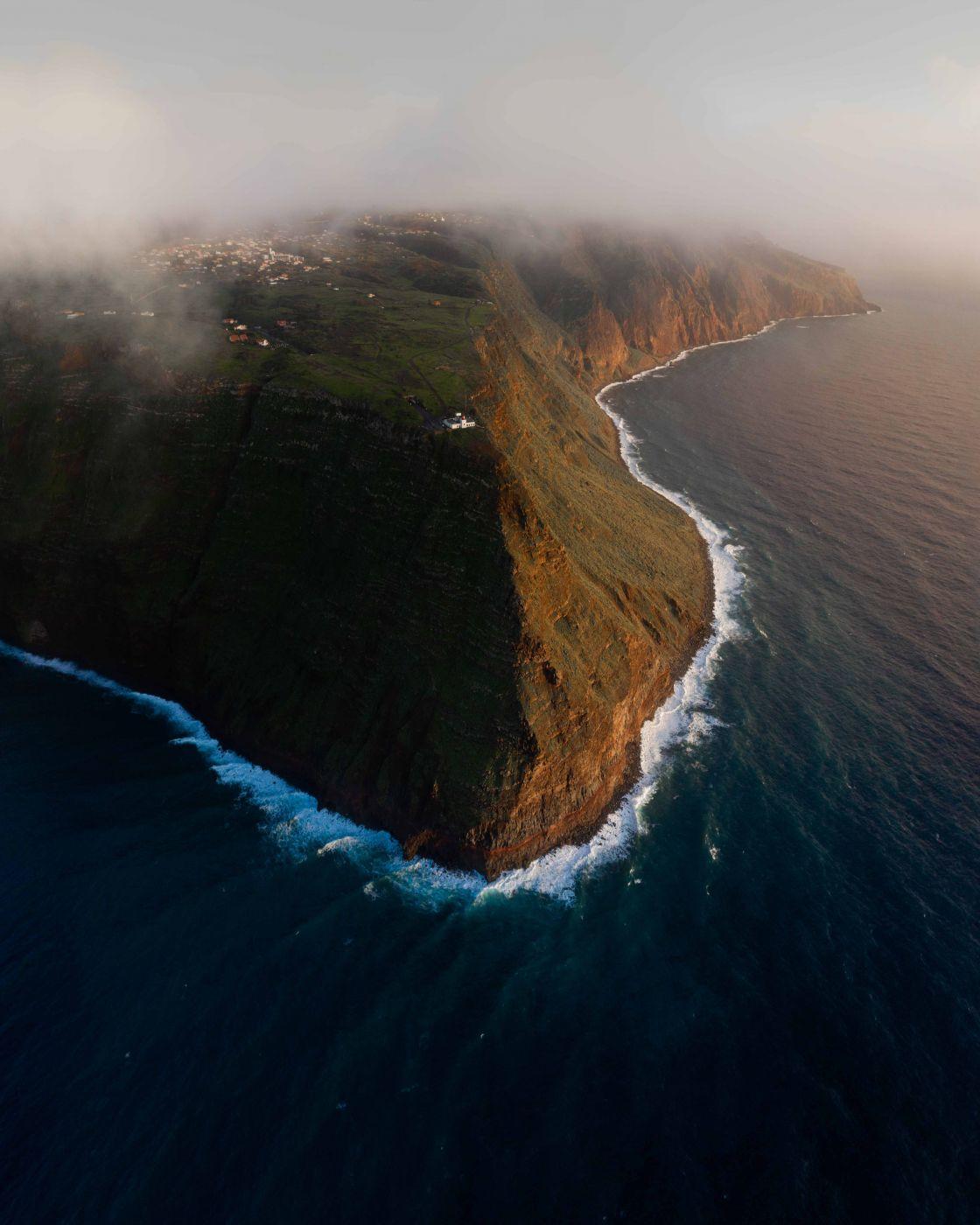 Ponta do Pargo Lighthouse [Drone], Portugal