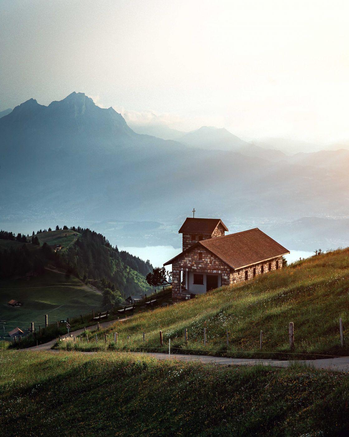 Rigi Kulm mountain chapel, Switzerland
