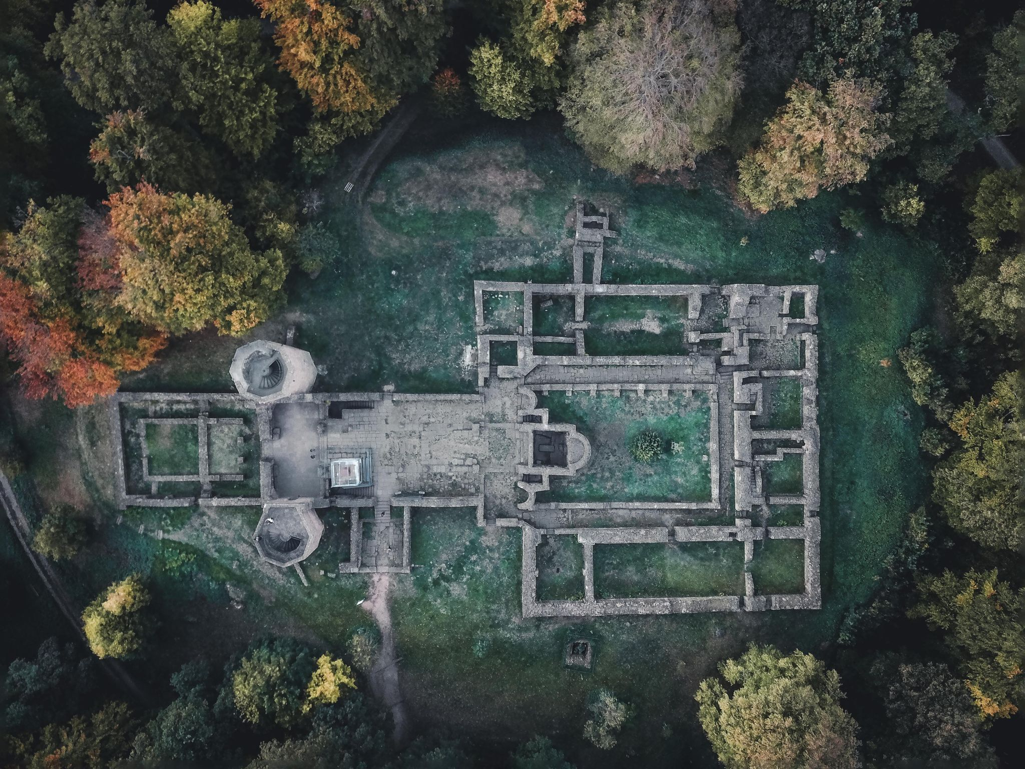 St. Michael Monastery Ruins [Drone], Germany
