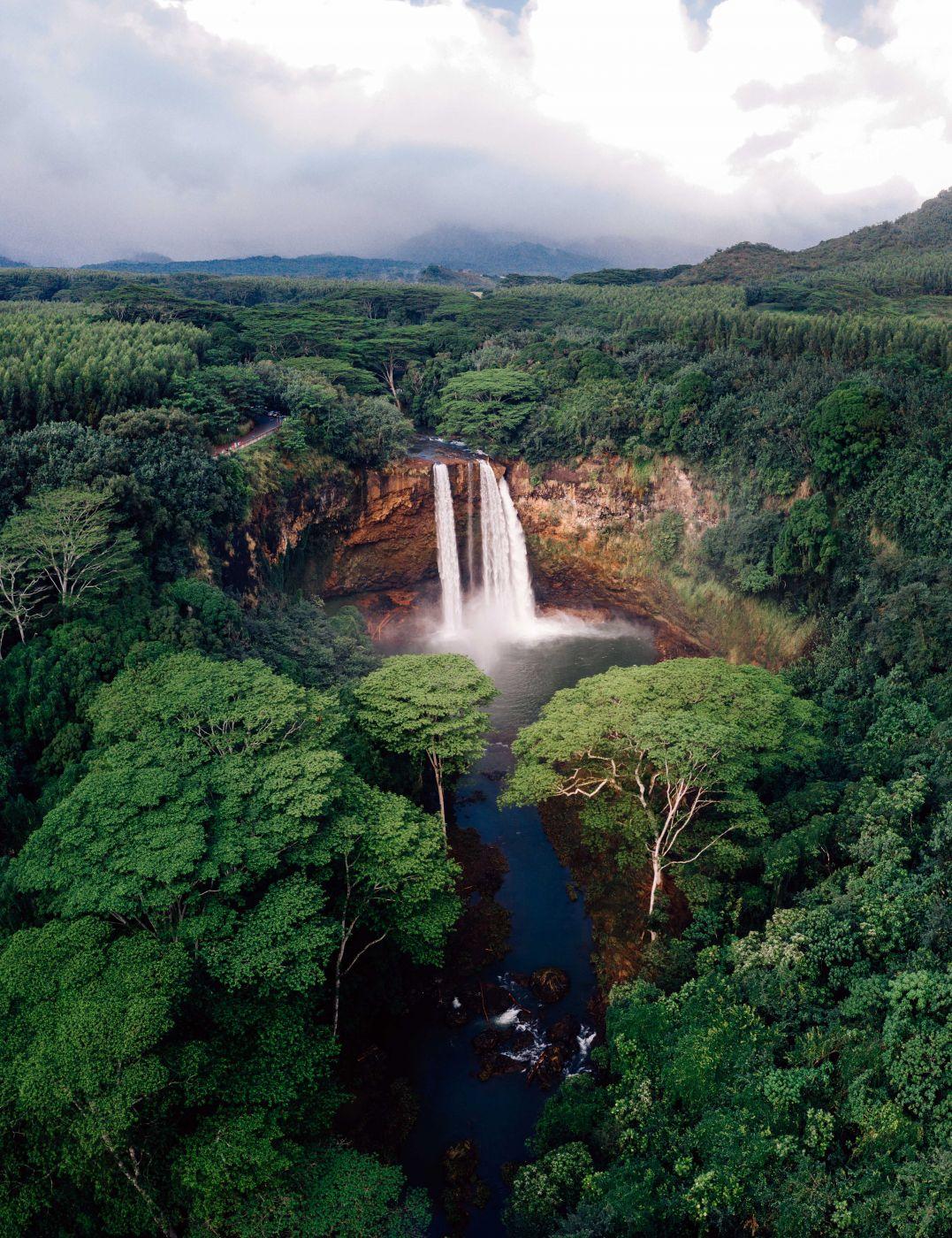 Wailua Falls [Drone], USA