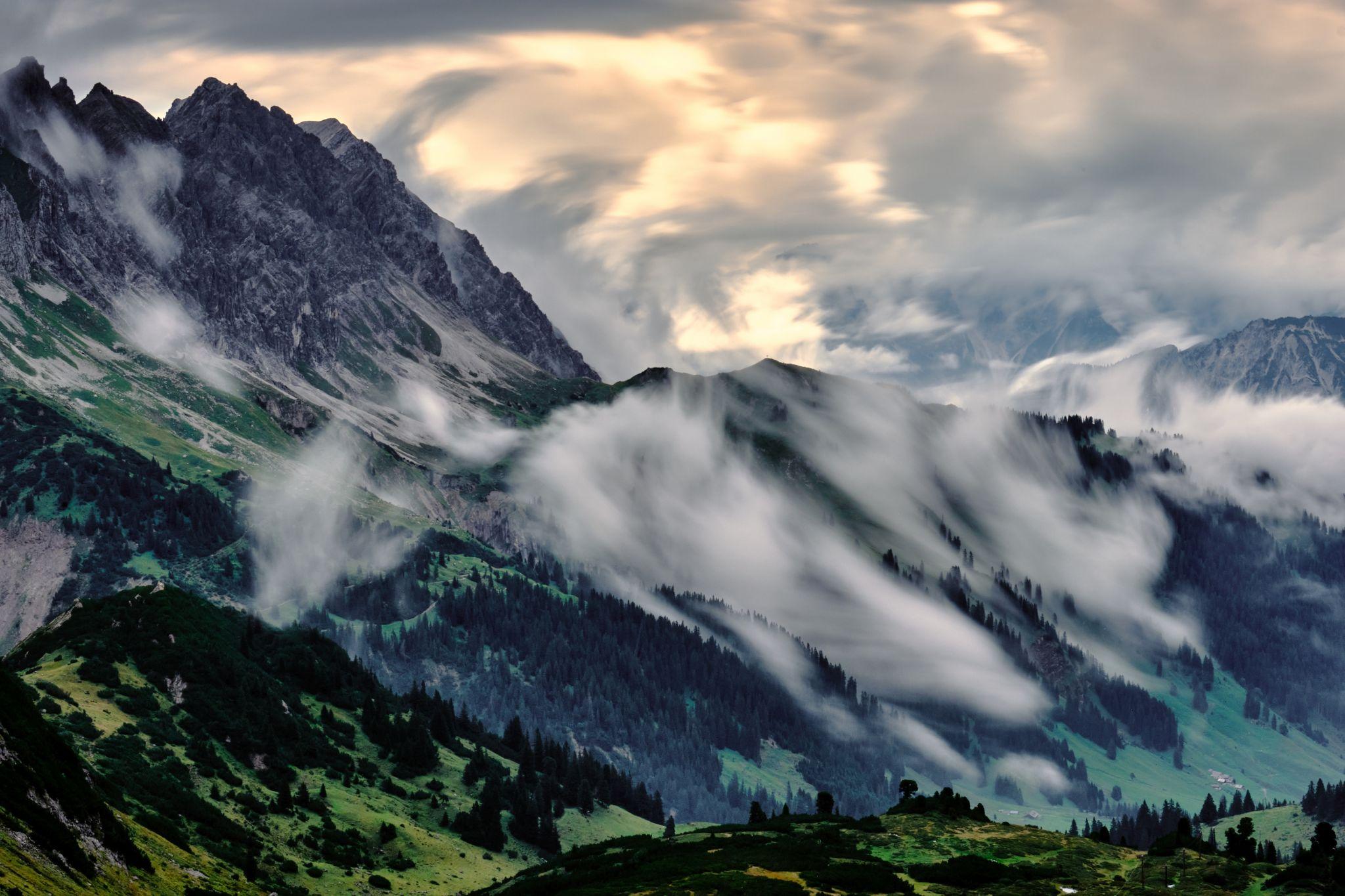 Zimba peak panorama, Austria
