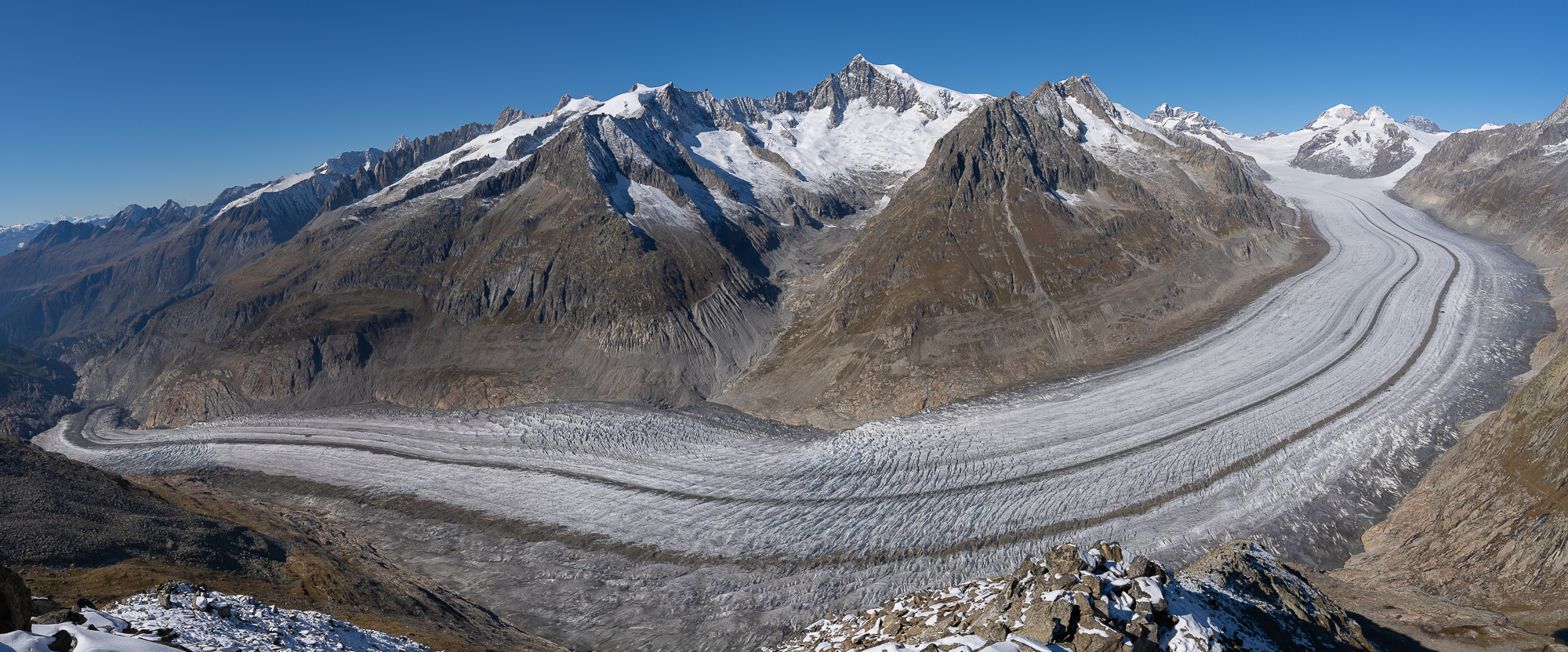 Aletsch glacier from Eggishorn, Switzerland