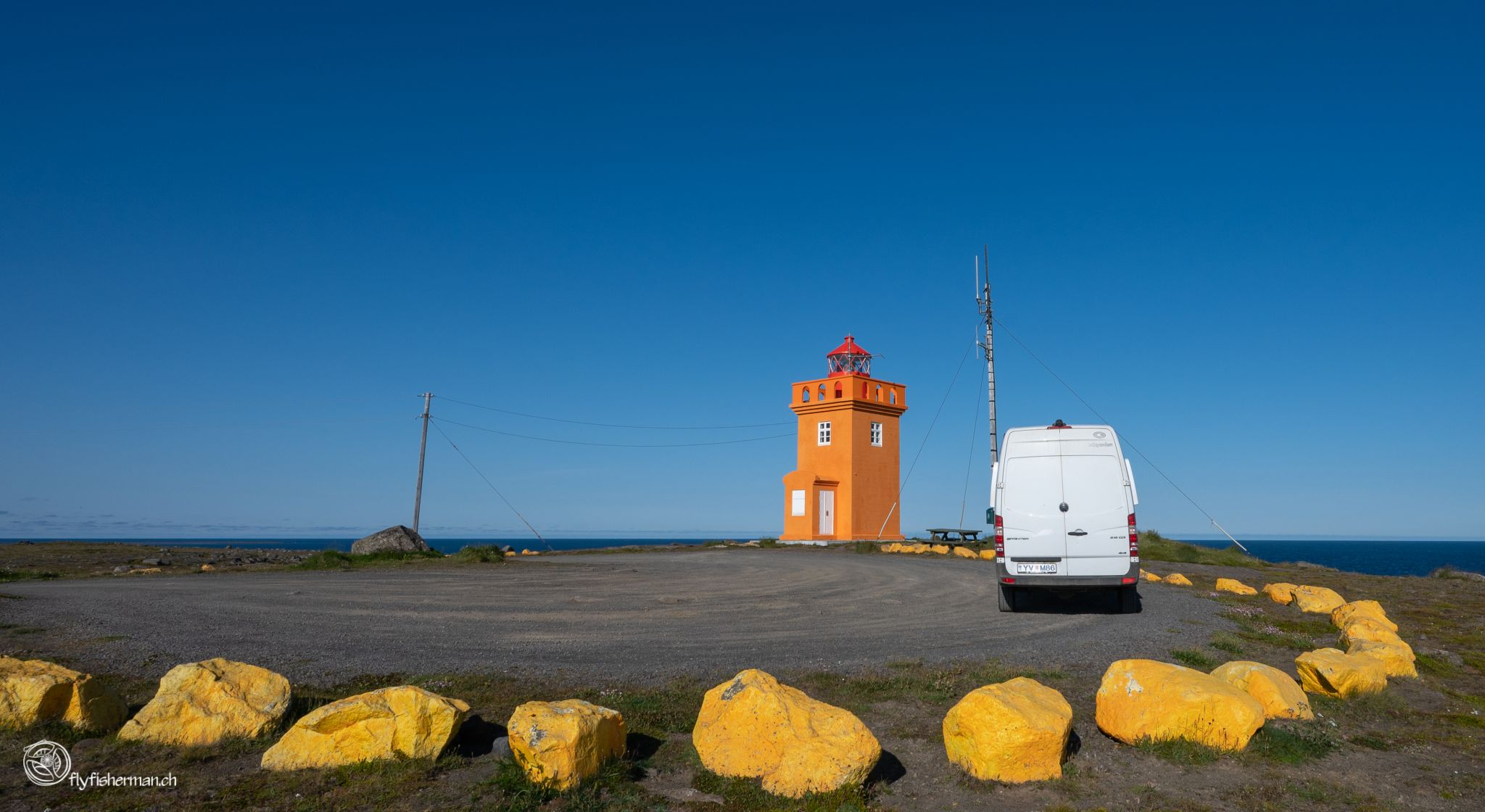 Lighthouse at Raufarhöfn, Iceland