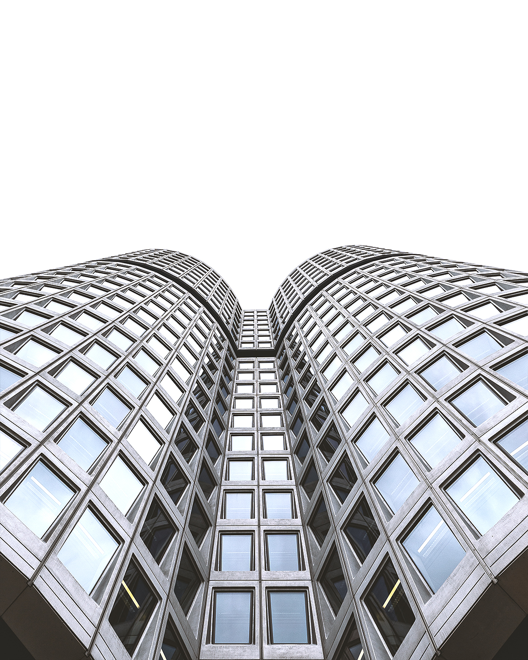 Looking up, BMW Tower, Germany