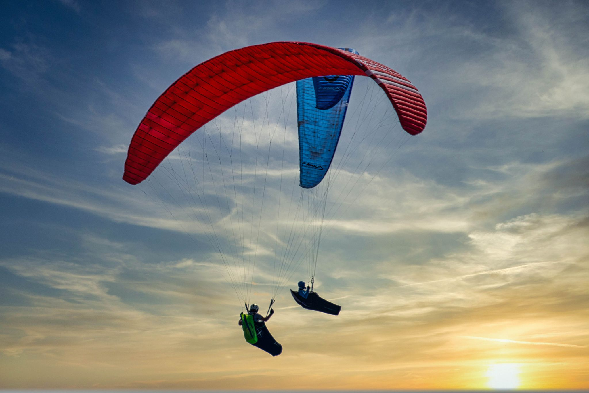 Parragliders Mona Vale headland, Northern Beaches, Australia