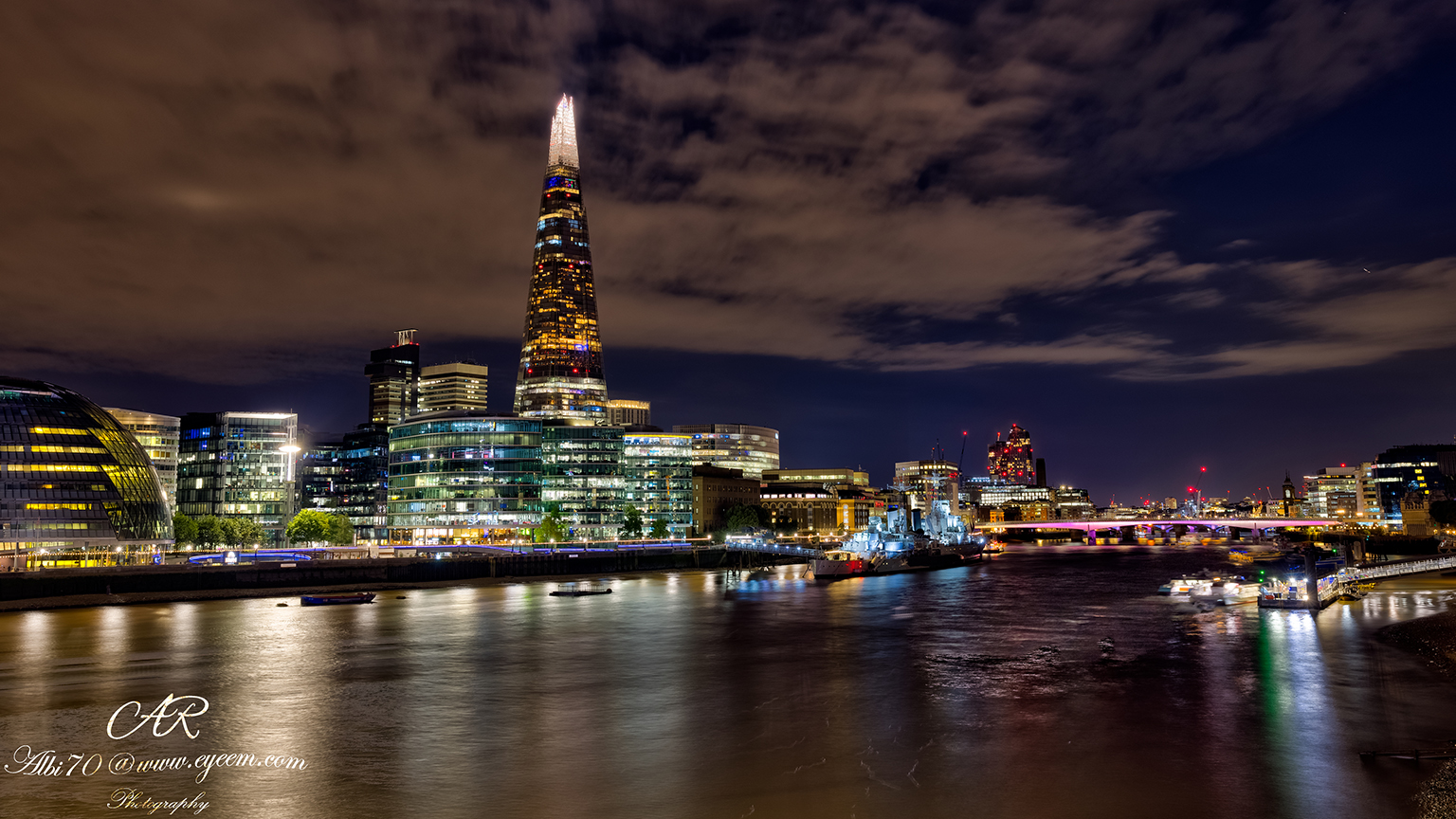 The Shard from Tower Bridge, United Kingdom